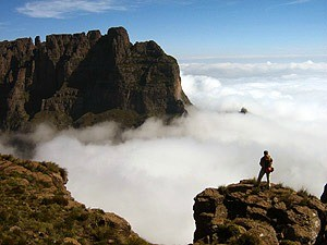 South Africa Drakensberg mountains view