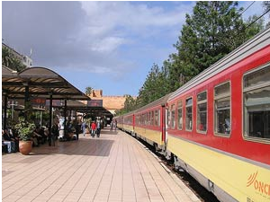 Train at the station in Morocco