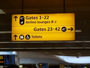 sign in airport