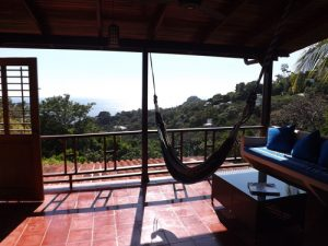 Hammock on the balcony in Nicholas Villas terrace in Manuel Antonio