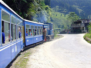 Toy train in Darjeeling in India