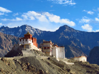 India monastery in the mountains