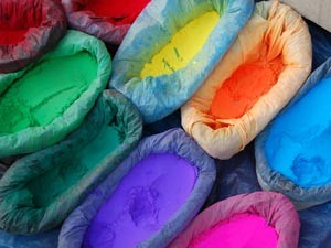 coloured powder