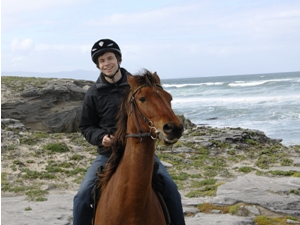 customer horse riding