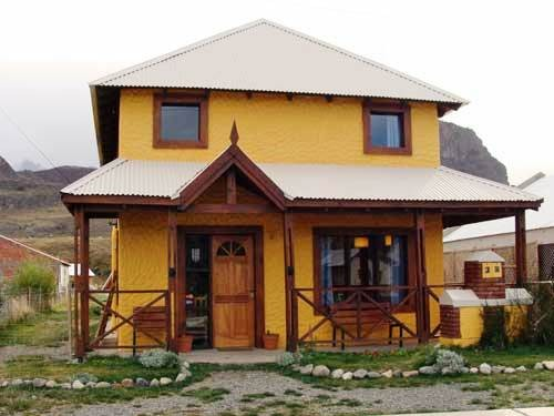 Exterior of the yellow accommodation