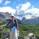 woman trekking in argentina