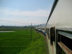 Train in countryside