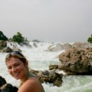 Laos travel specialist Brittany by waterfalls