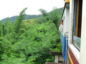 customer on train in Thailand