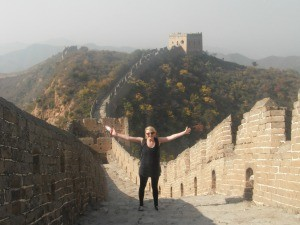 Caroline smiling on the Great Wall