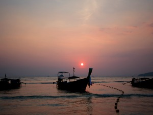 Railay Bay sunset in Thailand