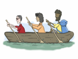 our values doing it together illustration
