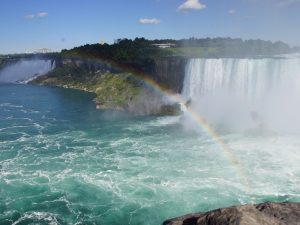 Rainbow infront of the Niagara Falls