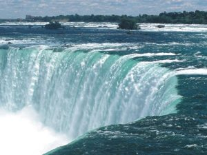 Waterfalls of niagara up close