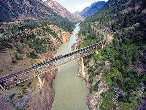 Rocky Mountaineer over Fraser River, Canada