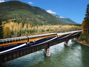Rocky Mountaineer train travel through Canada
