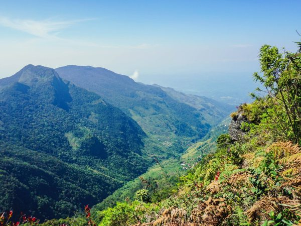 View from worlds end in Sri Lanka