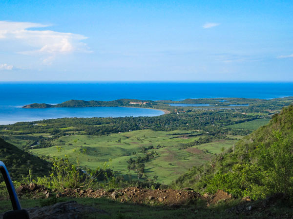 A view of the sea & hills in Baracoa, Cuba