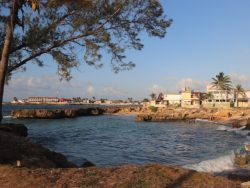Seaside area and harbour
