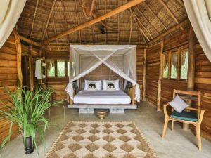 Room at the lodge in Gal Oya National Park, Sri Lanka